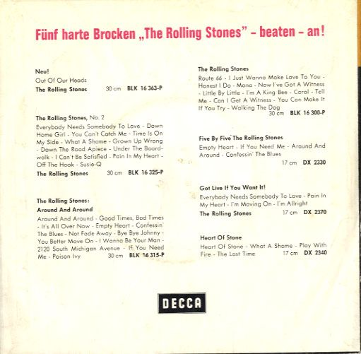 Rolling Stones,The - Germany - 19th Nervous Breakdown/As Tears Go By (DL  25222)
